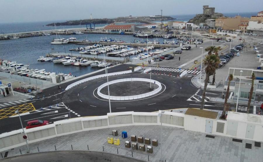 Portada  La Autoridad Portuaria abre la nueva rotonda de acceso a la terminal de pasajeros del Puerto de Tarifa