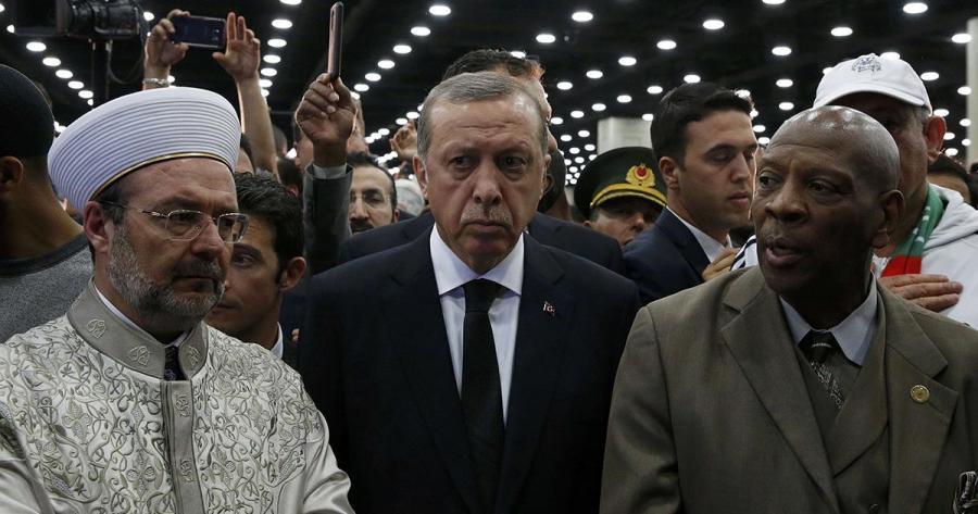 Internacional Internacional Erdogan abandona el funeral de Alí enojado