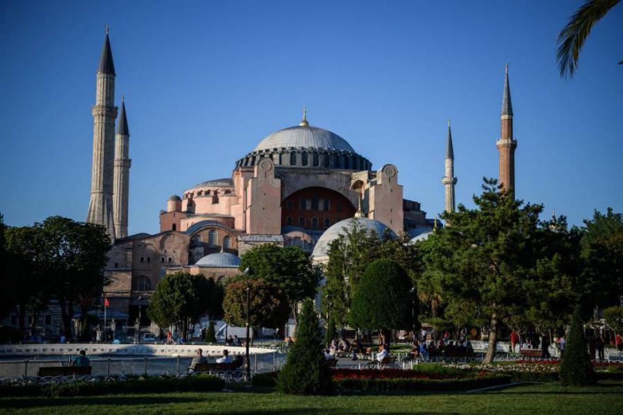 Portada  El rezo del Corán en Santa Sofía genera tensión entre Turquía y Grecia