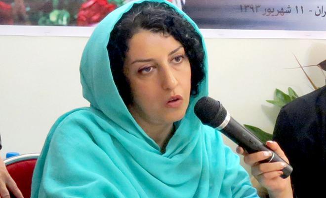 Portada  La activista iraní Narges Mohammadi inicia un huelga de hambre en prisión