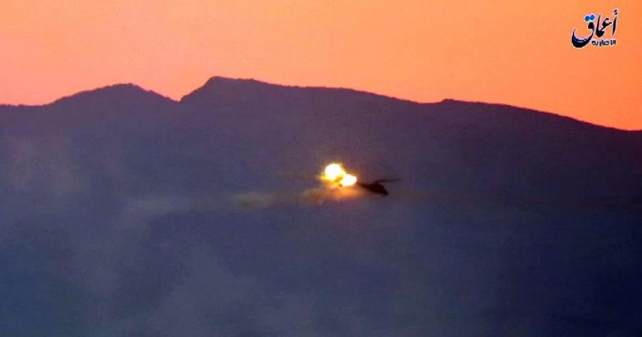 Portada  Dos pilotos rusos mueren en Siria al ser derribado su helicóptero por el Dáehs