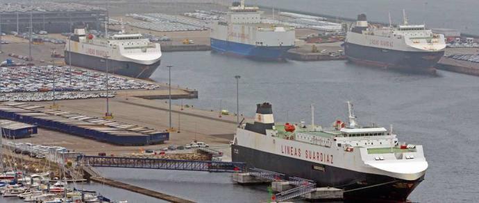 Portada  Vigo corteja a la cúpula de la megaterminal de Tánger Med