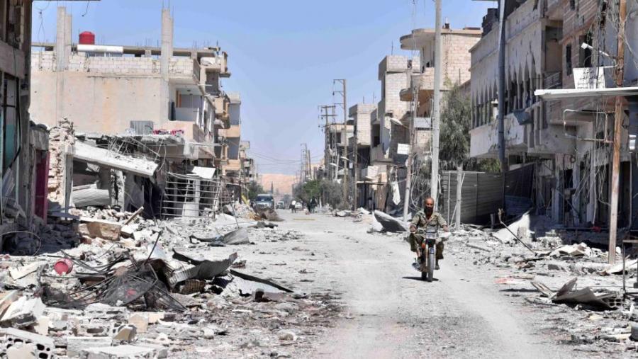 Portada  El Ejército sirio expulsa al Estado Islámico del desierto