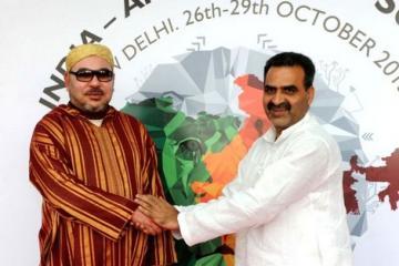 "Nacional Nacional El Rey Mohamed VI visita a India para asistir en la cumbre""India África"""